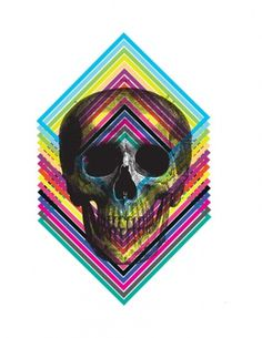Design Fodder (Urban Outfitters Print Shop design by Matt Scobey.) #illustration #color #skull