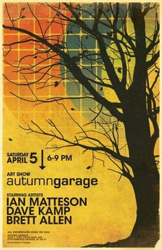 WANKEN - The Blog of Shelby White » Autumn Garage Art Show #flyer