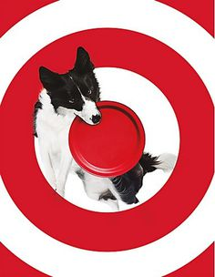 poster, Target, red, white, simple
