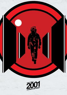 2001: a space odyssey #inspiration #movie #vector #white #red #a #hal9000 #space #image #2001 #alignment #odyssey #minimal #poster #logo #paper