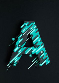 atype paper art #craft #paper #typography