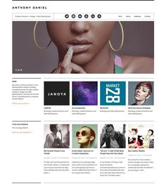 My website layout www.handsomegenius.me