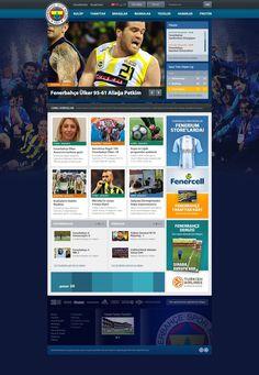 Fenerbahce FC #fenerbahce #site #yellow #design #soccer #istanbul #art #blue #football #web #club