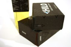 Hilo Branding Derrick Ligon, Graphic Designer #screenprinted #branding #packaging #box #black #on