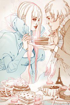 Exquise Romantic Exhibition #illustration #line #art