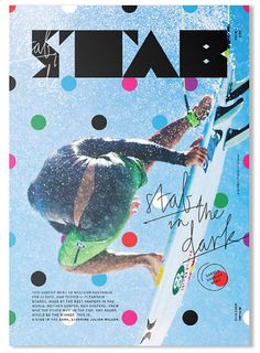 stab magazine editorial cover polka dots