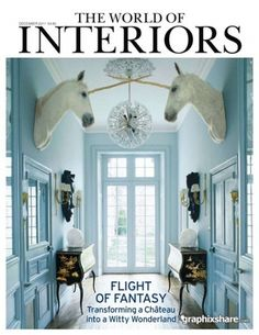The World of Interiors - December 2011 GraphixShare #interior #design #white #unicorn