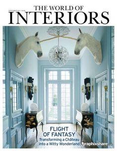 The World of Interiors - December 2011 GraphixShare #interior #design #white #unicorn