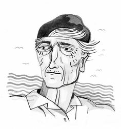 Portraits : Julianna Brion - Portfolio #illustration #jacques #cousteau