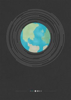Tom Newton - Planets #print #design #earth #minimal #poster #planet