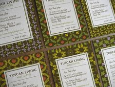 Tuscan Living Holidays · Brand Identity & Website on the Behance Network #yoyo #corporate #identity #logo #cards