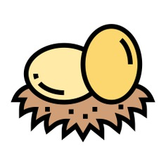 See more icon inspiration related to bird, nest, easter, pet, food and restaurant, farming and gardening, animal kingdom, wildlife, zoo, eggs and animals on Flaticon.