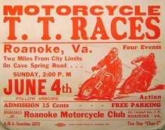 vintage motorcycle racing poster