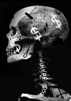 #deadhype #poster #graphic #artwork #skull #black #black and white
