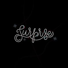 Surprise! by Jordan Lyle #lettering #design #line #vector