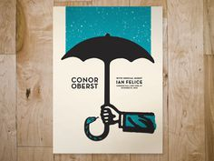 Conor_gig #illustration #poster #texture #bandito #conor oberst