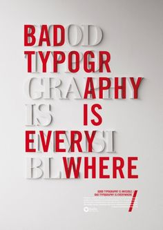 Bad Typography is Everywhere #poster #typography