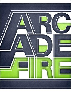 Arcade Fire Typographic Treatment