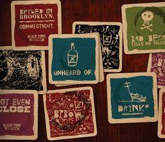 Black Pond Brews Coasters #beer #costers