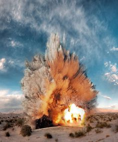 Real Life Photographs With Aadded Explosions From 'Call of Duty' by AlderEgo #retouching #real #photography #explosions #life