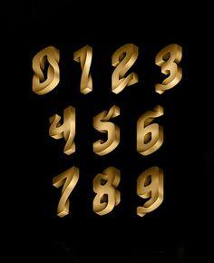 Tremendo Typography3 #typography #gold