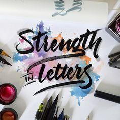 Strength in letters 💪 - - - #typespire #lettering #calligraphy #handlettering #typetopia #artoftype #ligaturecollective #strengthinletter