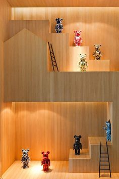 Bear toys house #bears #toys #house #modern #teddy #art #bear