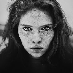 500px / Photo #white #pretty #black #freckles #photography #portrait #beauty