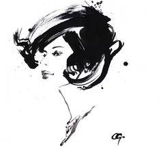 OHGUSHI Fashion Illustration – Illustration inspiration on MONOmoda #fashion illustration