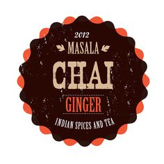 Masala Chai Tea Lounge on Behance #logo #lettering #vintage #label