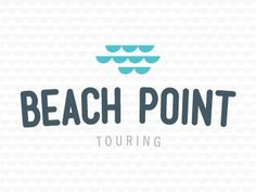 Dribbble - Beach Point Touring by Alexander C. Sprungle #logo #colors