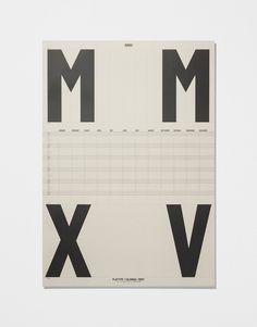 Calendar Poster 2015 — Ivory #print #calendar #graphic #design