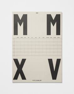 Calendar Poster 2015 — Ivory