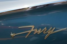 All sizes | 1960 Plymouth Fury | Flickr - Photo Sharing! #chromeography #lettering #automobile #fury #vintage #car #typography