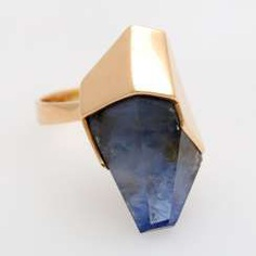 KRAUSS ladies ring with sapphire crystal.