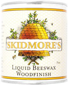 Skidmore's Beeswax Wood Care #packaging #illustration #lettering