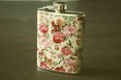 A Bushel of Mustache | wantwantwantwant #flask #pattern #floral