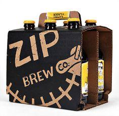 Zip Brew Co. Packaging #beer #bottle #label #packaging