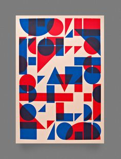 Shapes Screen Print by Two Times Elliott #poster