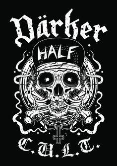 ROADCREW #skull #motörhead #illustration #graphic design #screenprint #silkscreen #darkerhalf #darkerhalfcult #endordesigns