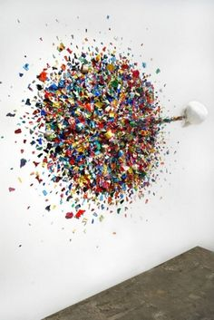 Typoe - BOOOOOOOM! - CREATE * INSPIRE * COMMUNITY * ART * DESIGN * MUSIC * FILM * PHOTO * PROJECTS #sculpture #installation #colors #art #confetti #typoe #death
