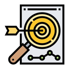 See more icon inspiration related to focus, aim, target, archer, targeting, dartboard, objective, archery, audience, weapons, bullseye, marketing, sport, arrow and arrows on Flaticon.