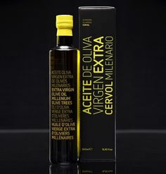 Ancient Trees Olive Oil : Lovely Package . Curating the very best packaging design. #packaging #yellow #de #black #oliva #aceite #typography