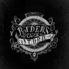 Riders in the night by Thomas Picard. #lettering #typography