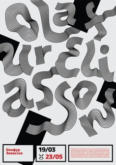 annieaoife:  Love this type poster tribute to artist Olafur Eliasson from Ukrainian designer Inessa Kamardina.
