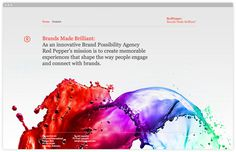 Red Pepper SouthSouthWest #website #interactive #typography