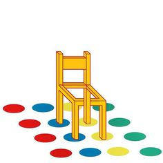 "Sergi Delgado, illustrator and graphic Designer. Barcelona"" #op #chair #design #graphic #illustration #play #art #twister"