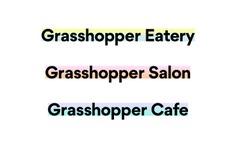 Visual Identity for Plant-based restaurant Grasshopper