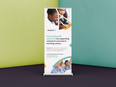 ImpactED pull-up banner design