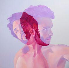 Bubblegum paintings by Jen Mann